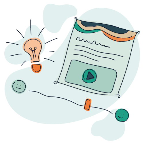 Illustration af internetpsykiatriens behandlingsprogram