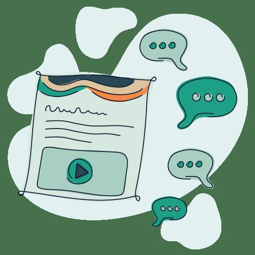 Illustration af internetpsykiatriens tekstbaserede terapi