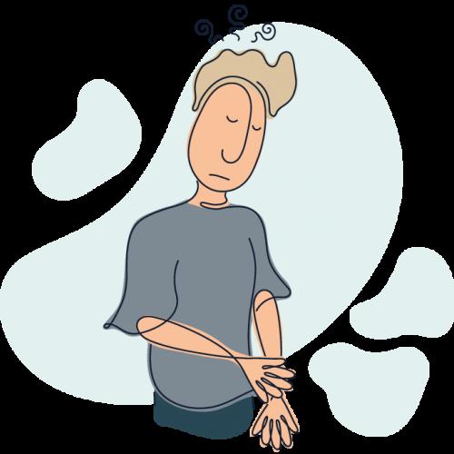 Illustration af patient med depression